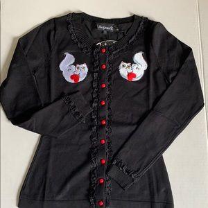 Sourpuss Cat Lady Cardigan Sweater